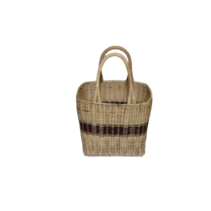 Rattan Basket with Handle (L)